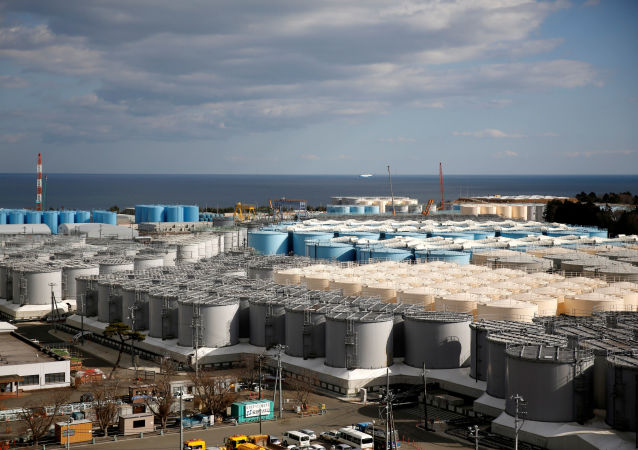 FILE PHOTO: Storage tanks for radioactive water are seen at Tokyo Electric Power Co's (TEPCO) tsunami-crippled Fukushima Daiichi nuclear power plant in Okuma town, Fukushima prefecture, Japan February 18, 2019