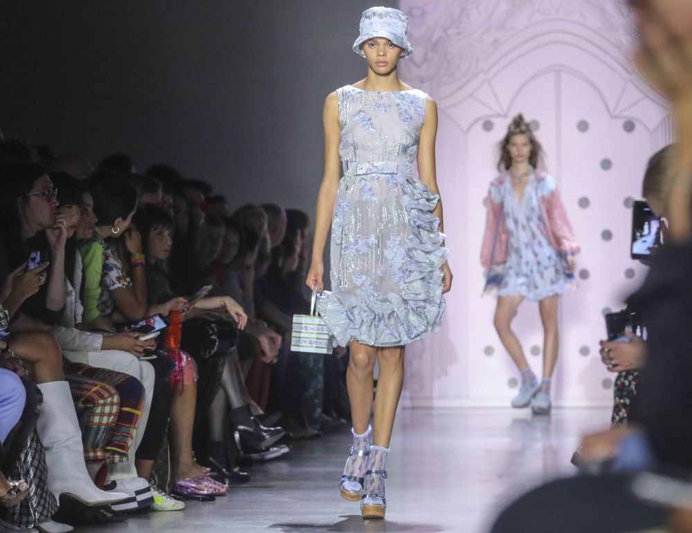 The latest fashion from Anna Sui is modelled during New York Fashion Week, Monday Sept. 9, 2019.