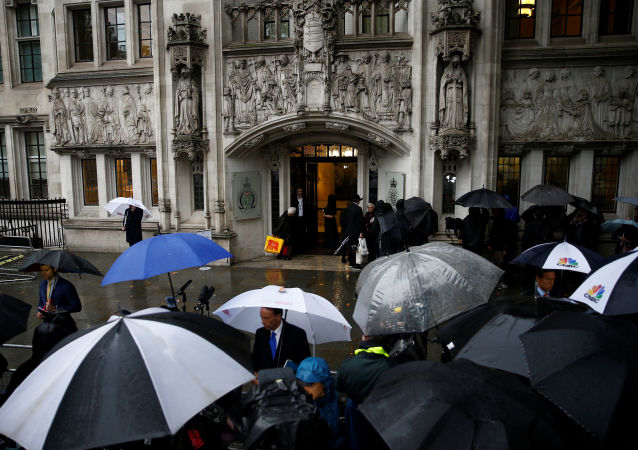 A general view outside the Supreme Court of the United Kingdom hearing on British Prime Minister Boris Johnson's decision to prorogue parliament ahead of Brexit, in London, Britain September 24, 2019