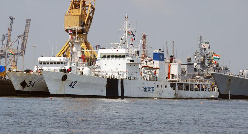 Indian coast guard ships