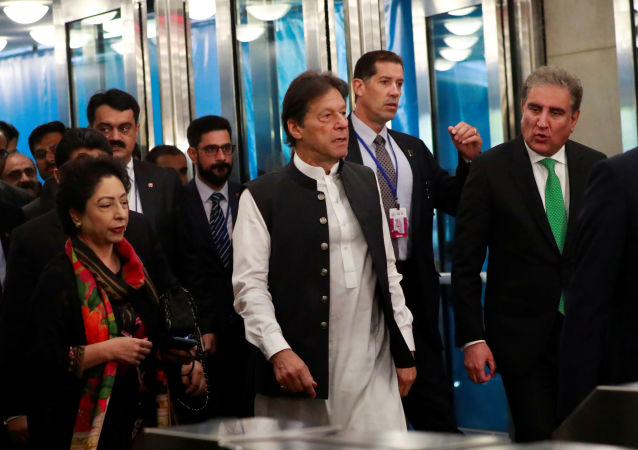 Pakistan's Prime Minister Imran Khan arrives ahead of the start of the 74th session of the United Nations General Assembly at U.N. headquarters in New York City, New York, U.S., September 24, 2019