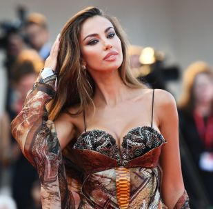 Italian model and actress Madalina Diana Ghenea on the red carpet of the 76th International Film Festival in Venice