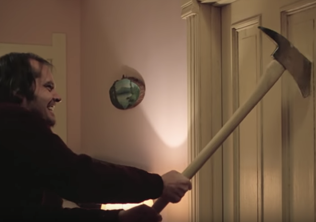 Frame from the film Shining