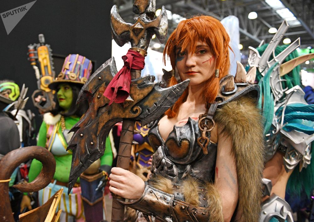 Cosplayers during the IgroMir 2019 exhibition and the Comic Con Russia 2019 festival in Moscow