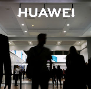 A Huawei sign at the IFA consumer tech fair in Berlin, Germany, September 6, 2019