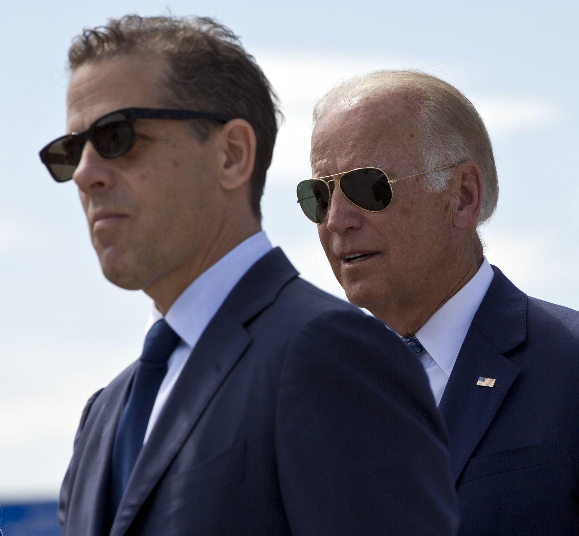 U.S. Vice President Joe Biden and his son Hunter Biden (File)