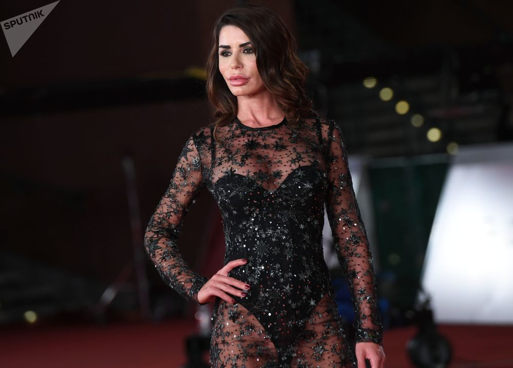 Actress Tamara Alcaniz on the red carpet during the premiere of Lorene Scafaria's 'Hustlers' at the 14th Rome Film Festival.