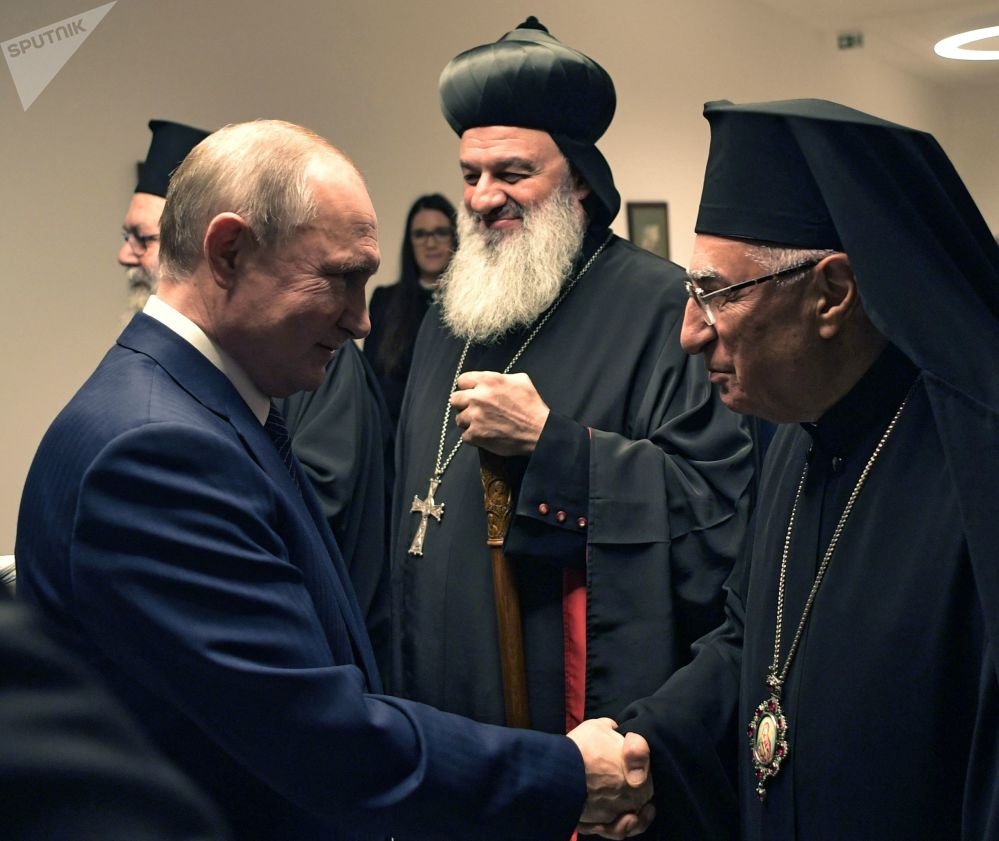 Russian President Vladimir Putin meets the Hierarchs of the Middle East Christian churches on 30 October, 2019