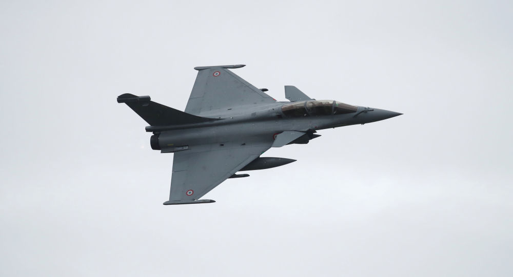 A Rafale fighter jet, manufactured by Dassault Aviation, takes part in a flying display at Saint-Dizier Air Base as the French Air Force celebrates 20,000 days of uninterrupted nuclear warning and the completion of a new round of Strategic Air Force (SAF) modernization in Saint-Dizier, France, October 4, 2019.