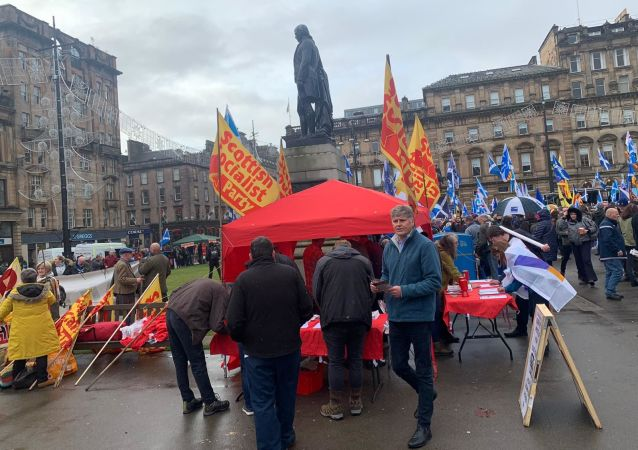 Scottish Socialist Party Turn Out In Support Of Scottish Independence In Glasgow