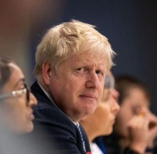 Britain's Prime Minister Boris Johnson visits Metropolitan Police training college in Hendon, London, Britain October 31, 2019.