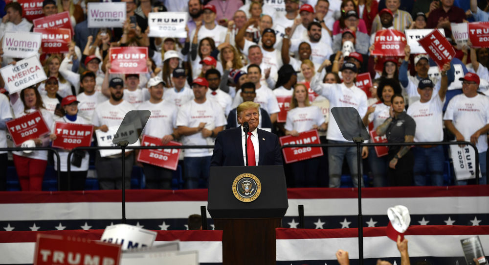 President Donald Trump speaks during a campaign rally in Lexington, Ky., Monday, Nov. 4, 2019