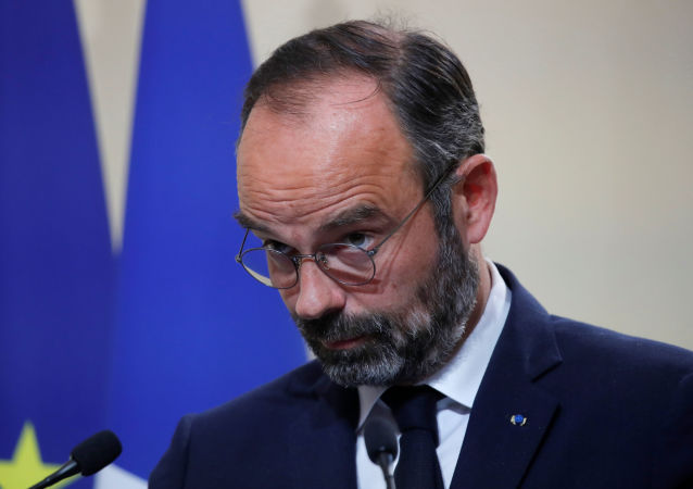 French Prime Minister Edouard Philippe attends a news conference on immigration at the Hotel Matignon in Paris, France, November 6, 2019