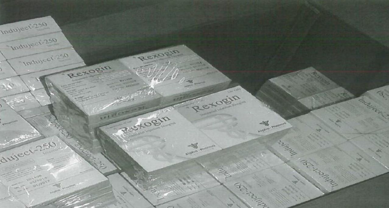 Boxes of anabolic steroids made by Alpha Pharma in India and smuggled to Britain for sale to bodybuilders