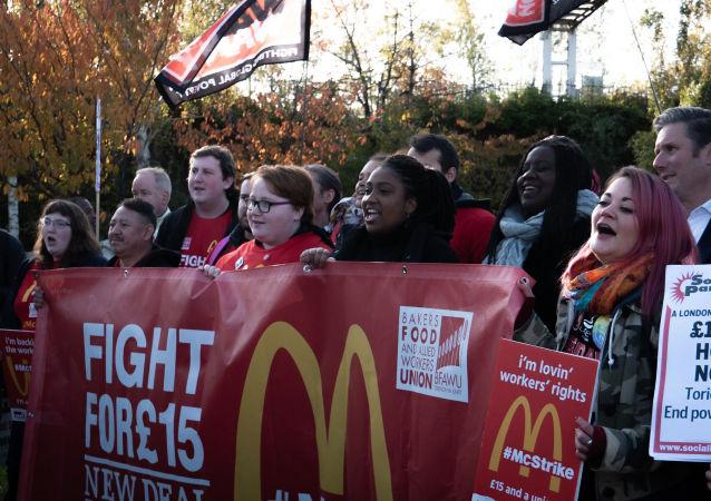 McStrike UK McDonald's Workers on Strike 12 November 2019 - CREDIT War on Want