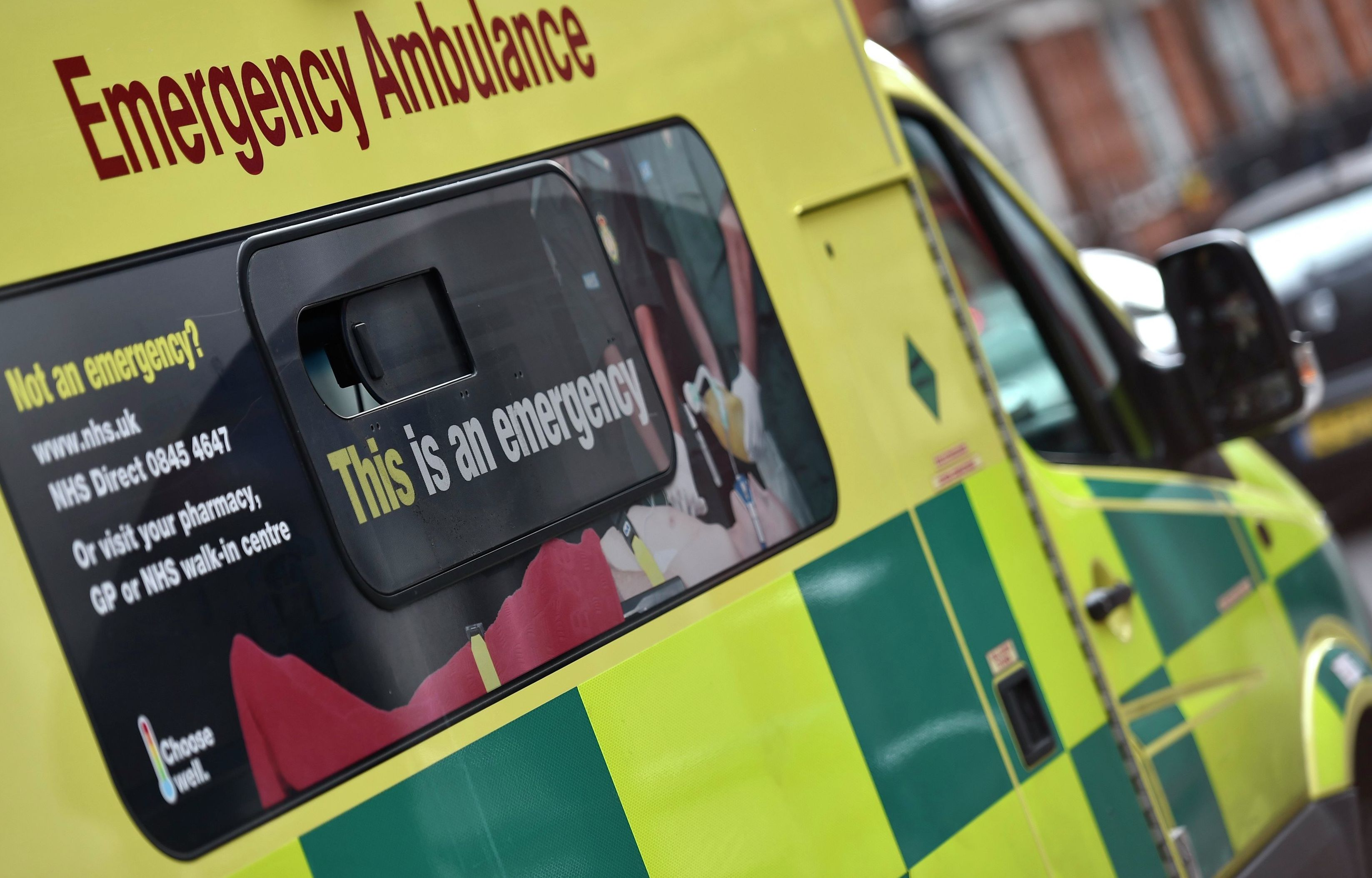 A National Health Service ambulance is seen in central London January 6, 2015.