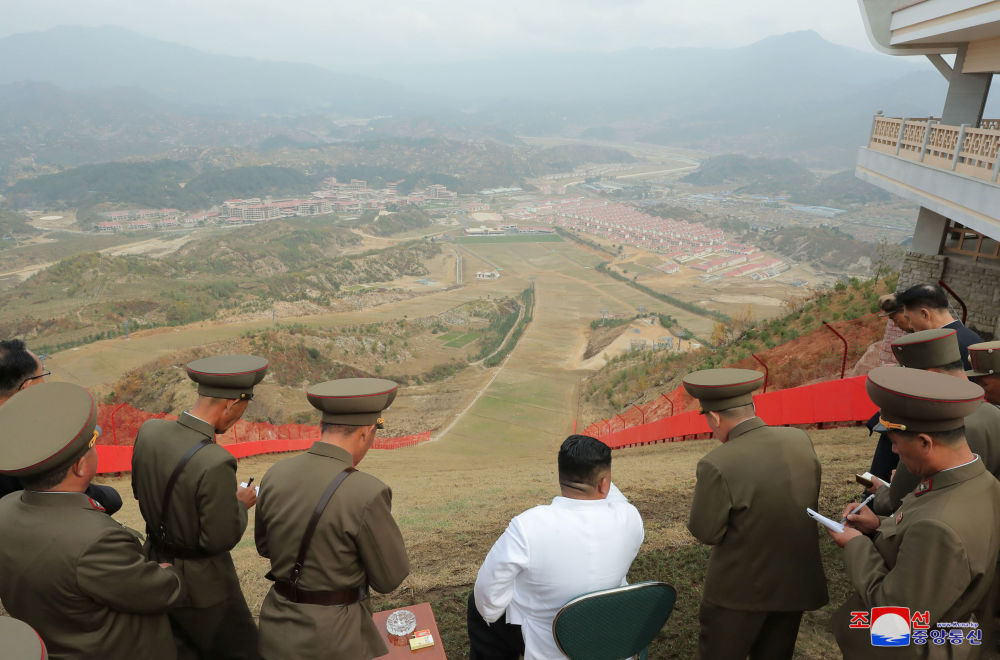 North Korean leader Kim Jong Un visits the Yangdok County Hot Spring Resort, North Korea