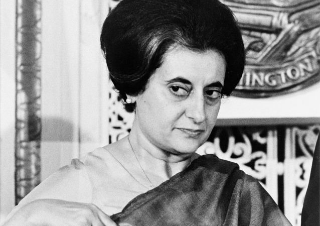 Indian Prime Minister Indira Gandhi (1917-1984) at the National Press Club, Washington, D.C. 1n 1966