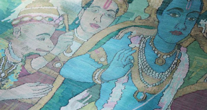 Artwork on Sari