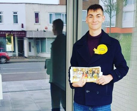 Ashley Ridley, 18, is the Liberal Democrat candidate in Worthing East and Shoreham