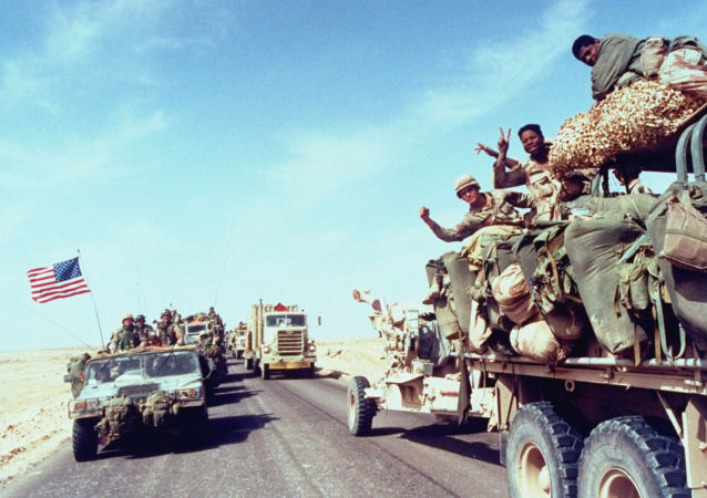 US-led Coalition Soldiers During First Gulf War