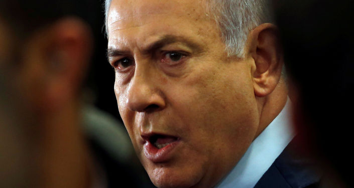 Israeli Prime Minister Benjamin Netanyahu speaks to the media at the Knesset
