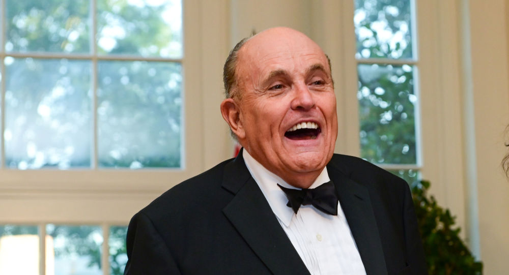 Rudy Giuliani at the White House in Washington