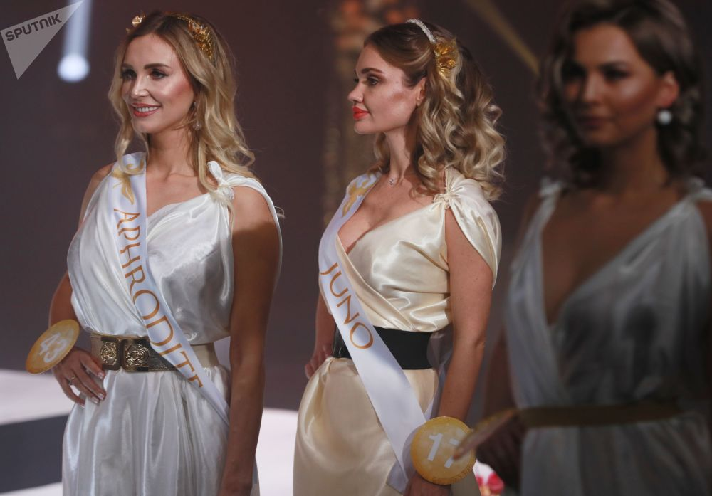 The finalists of the 'Miss Fashion 2019 - Goddess of the Universe' international competition