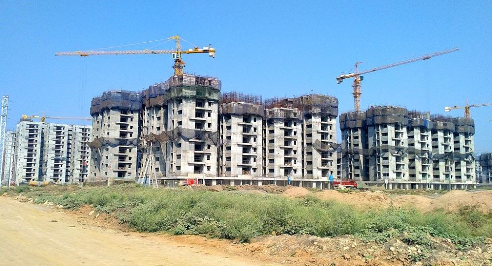 NGO housing under construction in Amaravati (March 2019)
