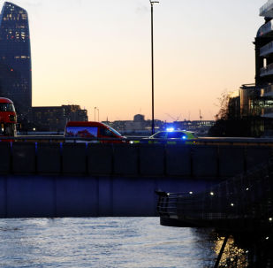 A police vehicle is seen at the site of an incident at London Bridge in London, Britain, November 29, 2019