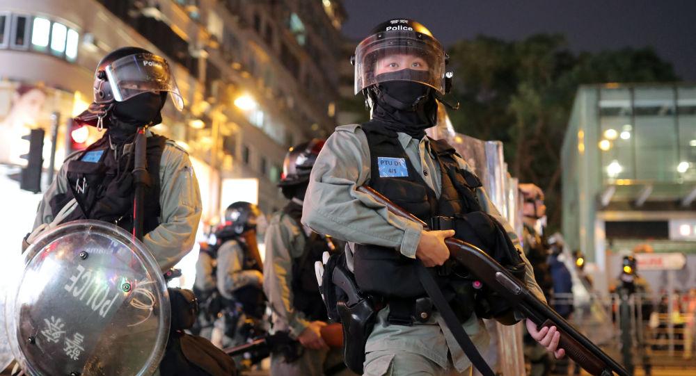 Hong Kong Riot Police Officers