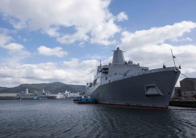 San Antonio-class amphibious transport dock ship USS New Orleans (LPD 18) is moored pierside at Commander, Fleet Activities Sasebo after completing her transit from San Diego, California. New Orleans