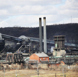The United States Steel Corporation plant stands in the town of Clairton on March 2, 2018 in Clairton, Pennsylvania.