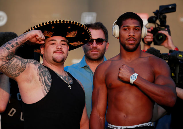 Andy Ruiz Jr & Anthony Joshua Weigh-In - Al Faisaliah Hotel, Diriyah, Saudi Arabia