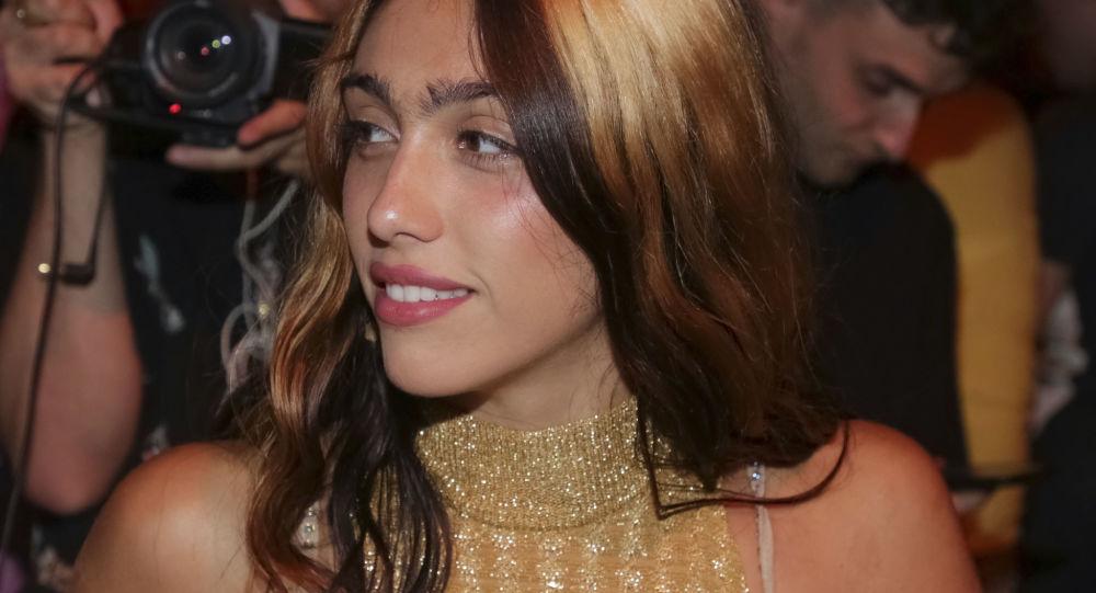 Madonna's daughter Lourdes Leon attends the Jeremy Scott Runway Show 2018