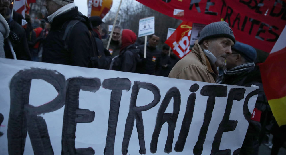 Protesters during a demonstration in Paris