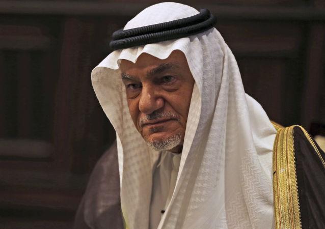 Saudi Prince Turki al-Faisal talks to the Associated Press in Abu Dhabi, United Arab Emirates, Saturday, 24 November 2018.