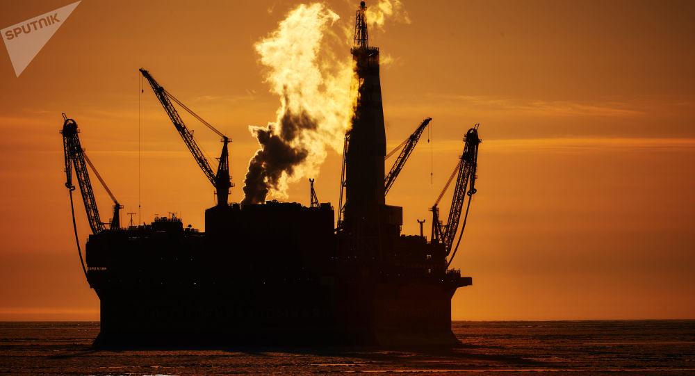 Russian offshore oil platform