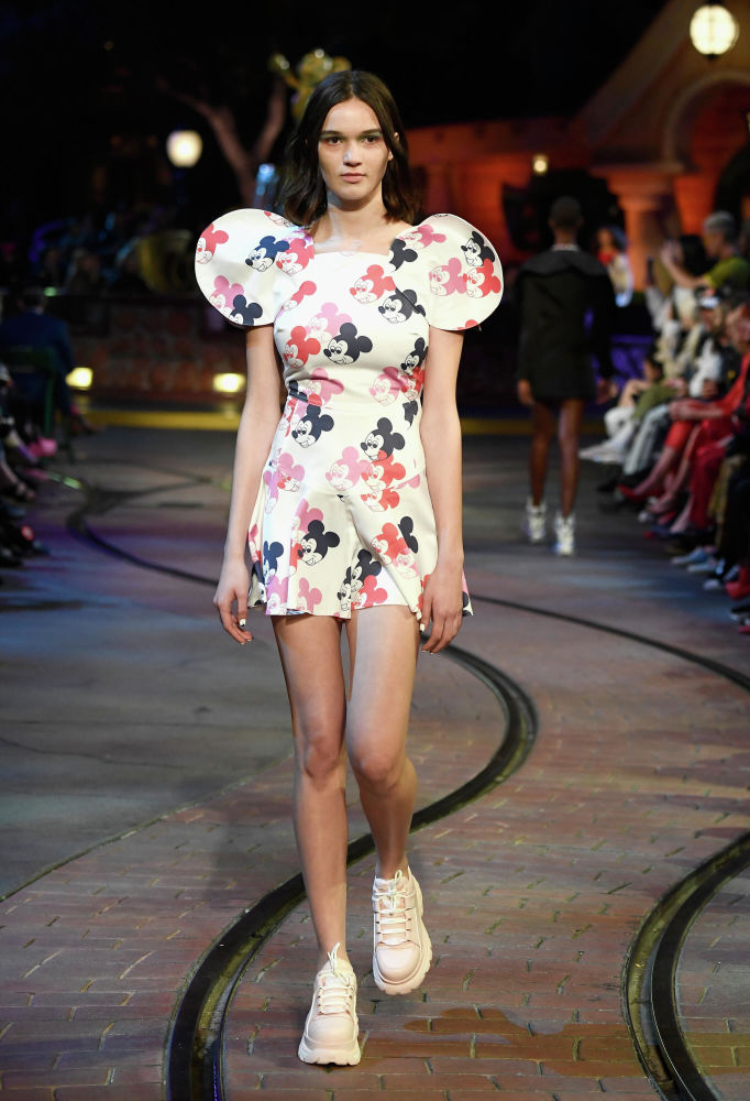 Fashion show in California in celebration of Mickey Mouse's 90th anniversary.