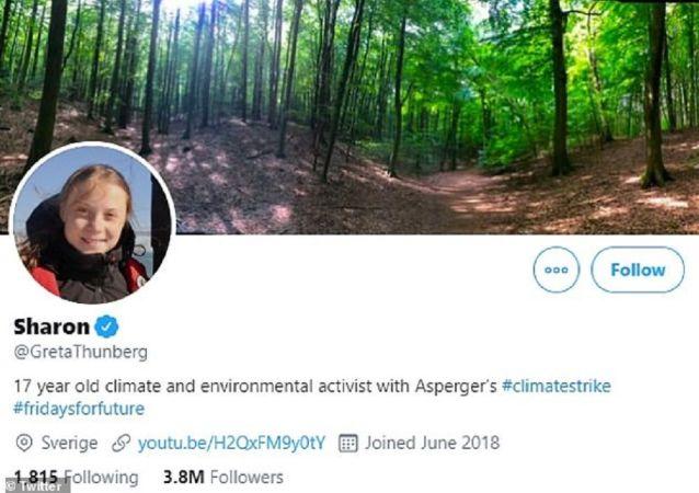 Greta Thunberg changes her Twitter moniker to 'SHARON'
