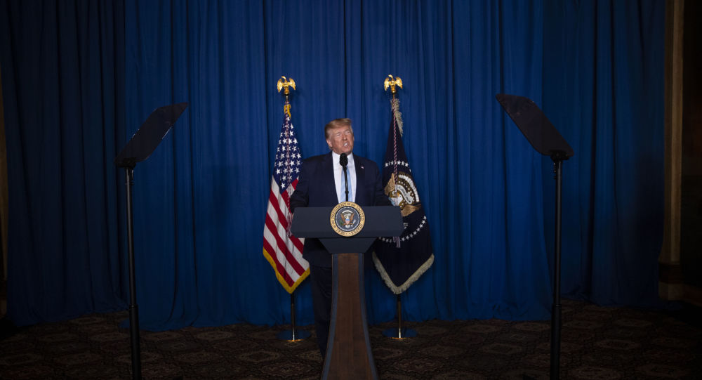 Donald Trump delivers remarks on Iran