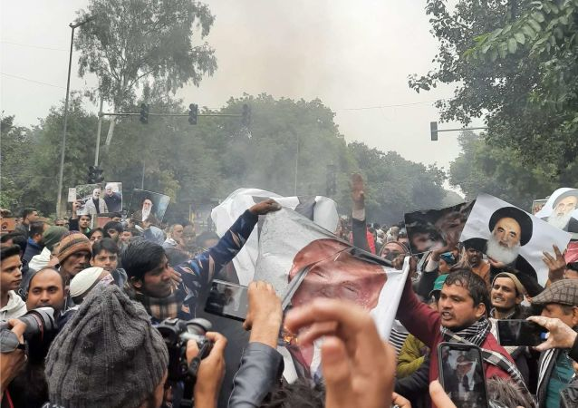 Protests Against Killing of Soleimani Held Outside US Embassy in New Delhi