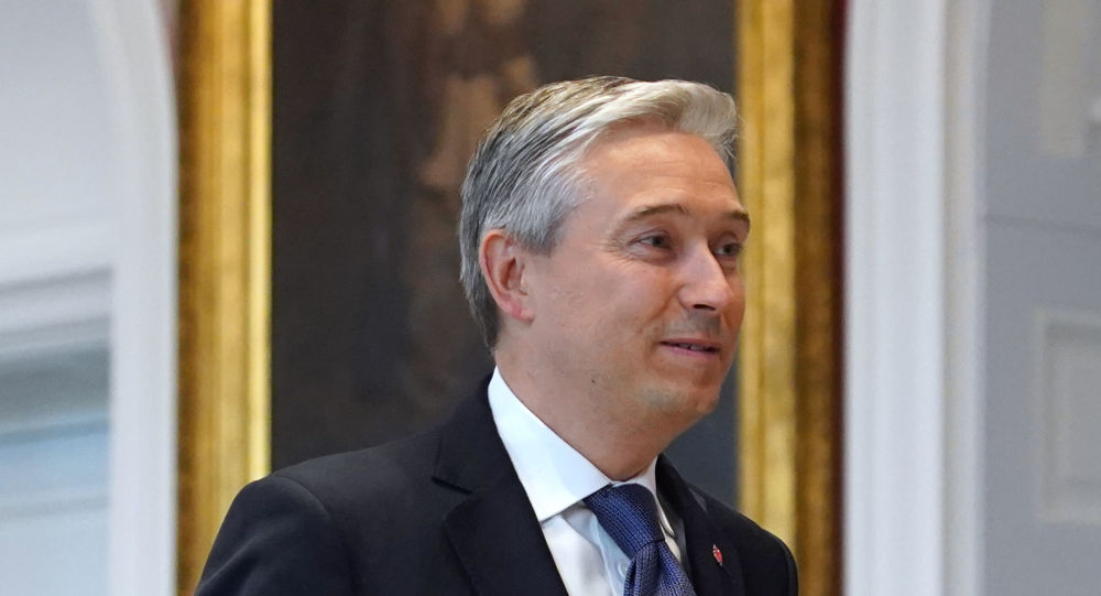 Francois-Philippe Champagne at Rideau Hall in Ottawa, Canada