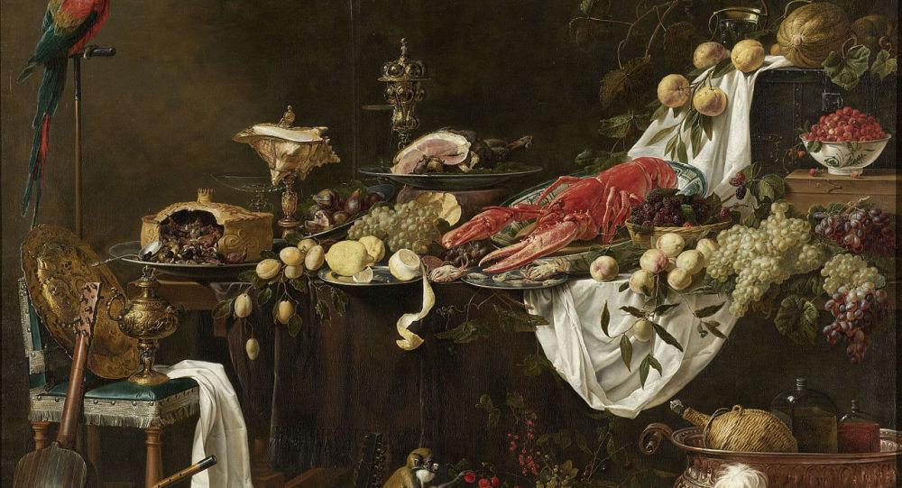 Banquet Still Life, Adriaen van Utrecht, 1644 - Rijksmuseum