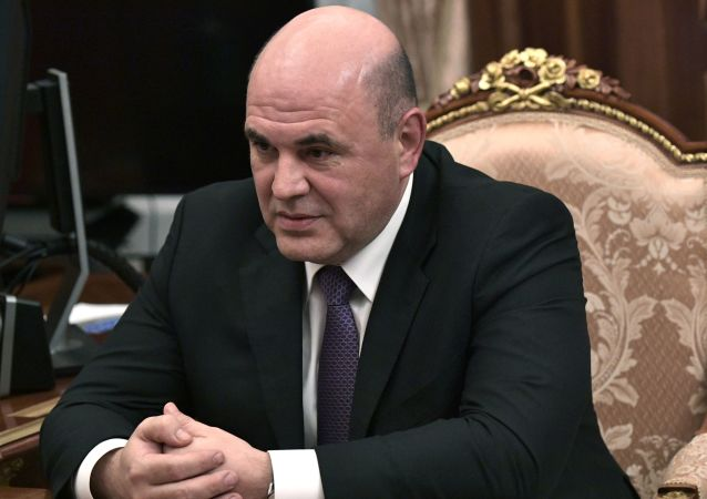 Russia's Tax Service chief Mikhail Mishustin attends a meeting with Russian President in Moscow on January 15, 2020.