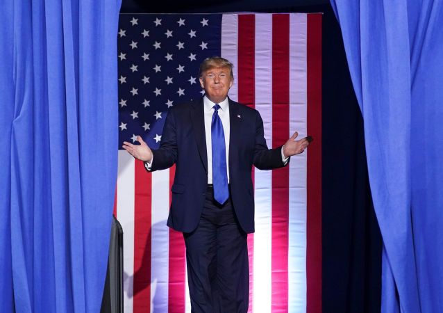 U.S. President Donald Trump arrives for a campaign rally at the University of Wisconsin-Milwaukee, in Milwaukee, Wisconsin, U.S., January 14, 2020.