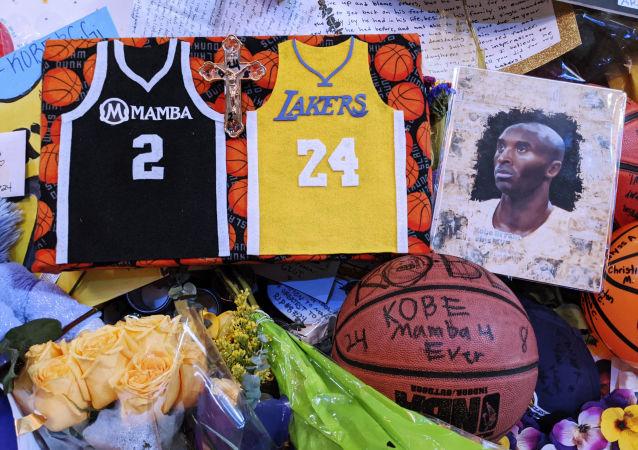 Memorabilia for NBA star Kobe Bryant