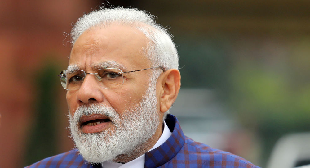 FILE PHOTO: India's Prime Minister Narendra Modi speaks to the media inside the parliament premises on the first day of the winter session in New Delhi, India, November 18, 2019.