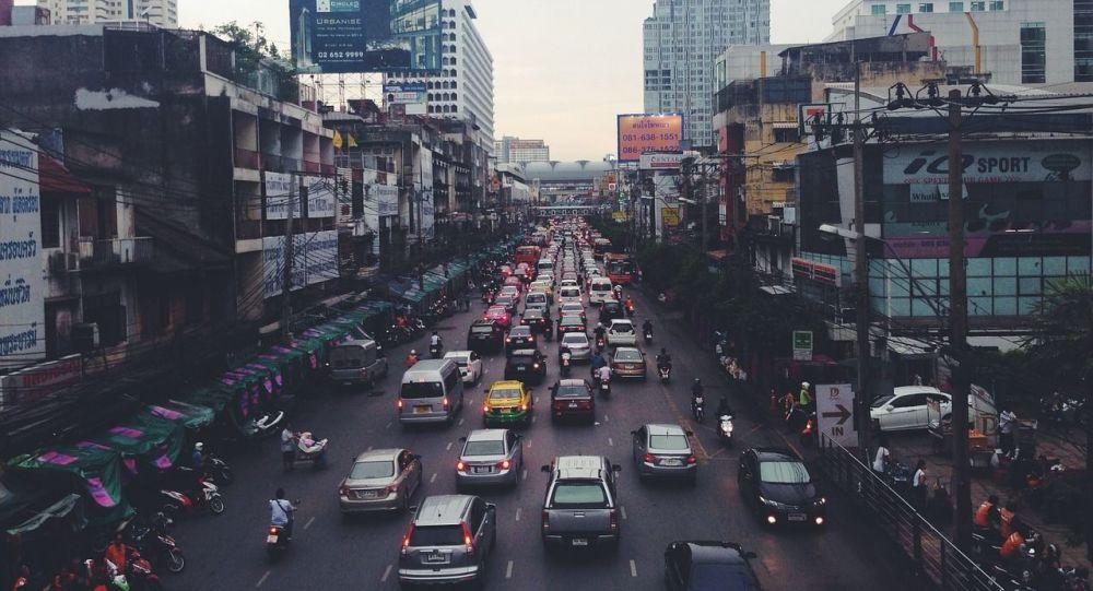 Highway traffic. India
