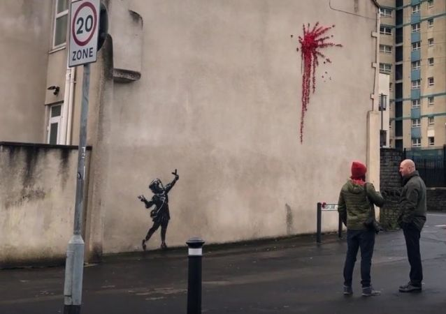 Suspected Banksy artwork has appeared in his home city of Bristol   SWNS